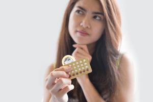 woman, pills, condoms